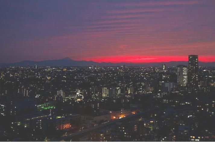 恵比寿のビルからの夜景