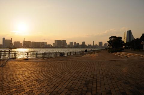 潮風公園の夕焼け