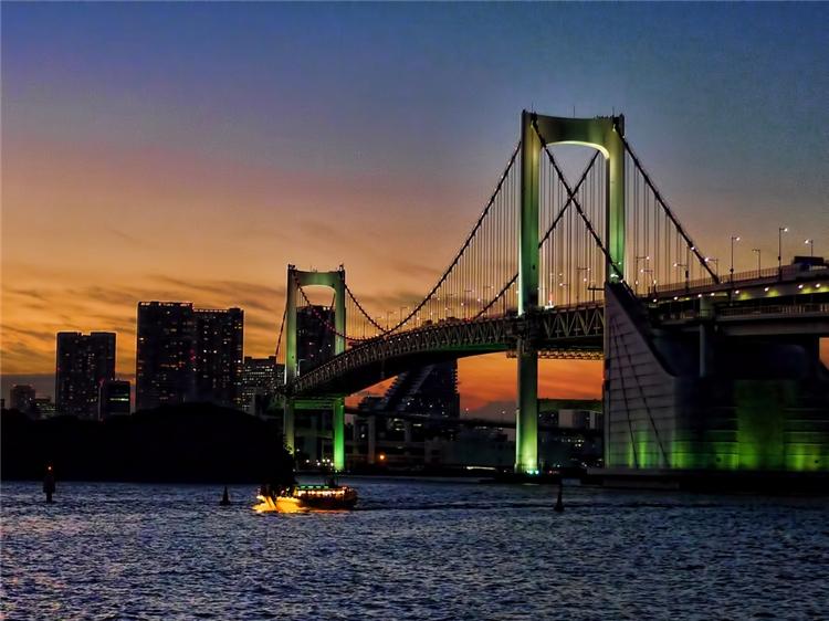 レインボーブリッジの夕焼け